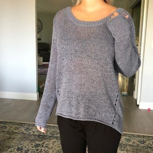 New 360sweater gray loose style sweater